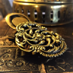 Beautiful Victorian Letter Clip - Possibly with Woven Hair (Memento Mori)